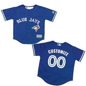 Toronto Blue Jays Toddler Customizable Replica Alternate Jersey by Majestic