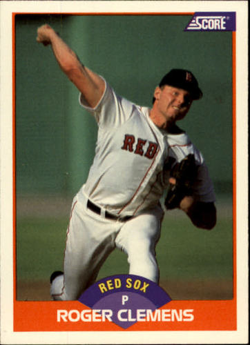 Photo of 1989 Score #350 Roger Clemens COR/78 career wins