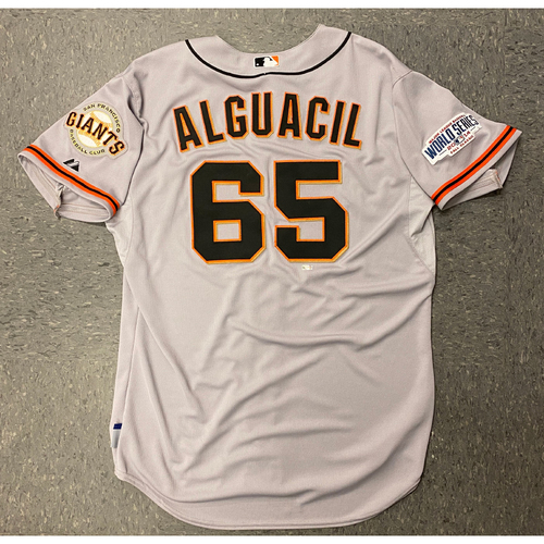2014 Team Issued World Series Road Jersey - #65 Jose Alguacil - Size 48