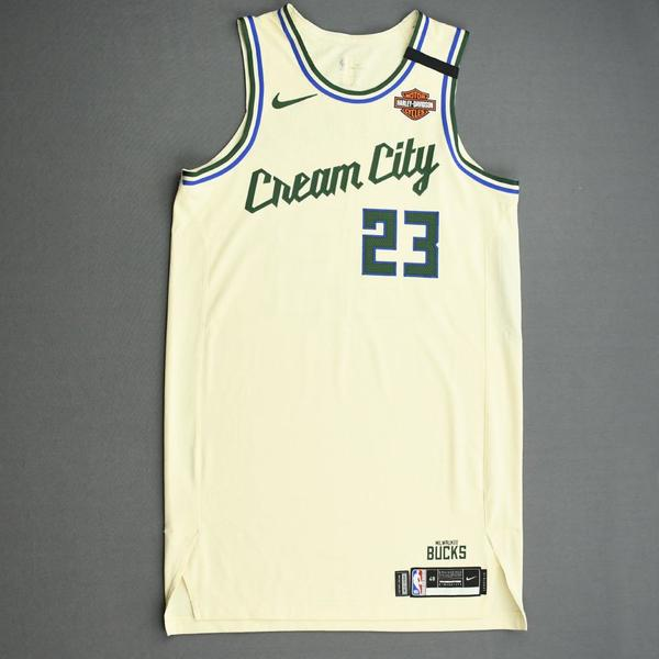 Image of Sterling Brown - Milwaukee Bucks - Game-Worn City Edition Jersey - 2019-20 NBA Season Restart with Social Justice Message