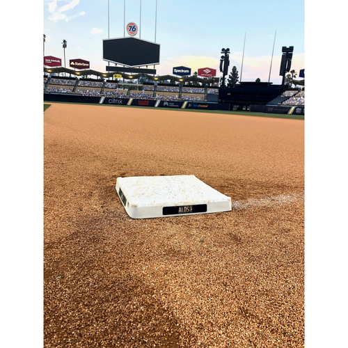 Photo of Game-Used 1st Base: 2020 ALDS - Houston Astros vs. Oakland Athletics - Game 1: Innings 1-2 and 6-9