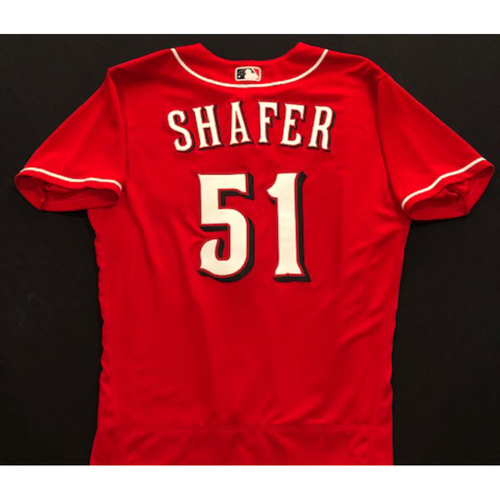 Photo of Justin Shafer -- 2020 Spring Training Jersey -- Team-Issued -- Size 44