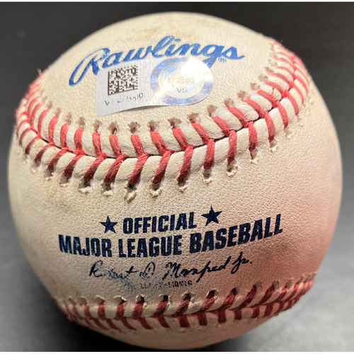 Photo of Game-Used Baseball: Isaac Paredes Detroit Tigers Double (MLB AUTHENTICATED)