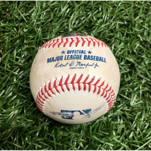 Photo of Spring Training Game Used Baseball: Willians Astudillo double off Chaz Roe - March 10, 2021 v MIN