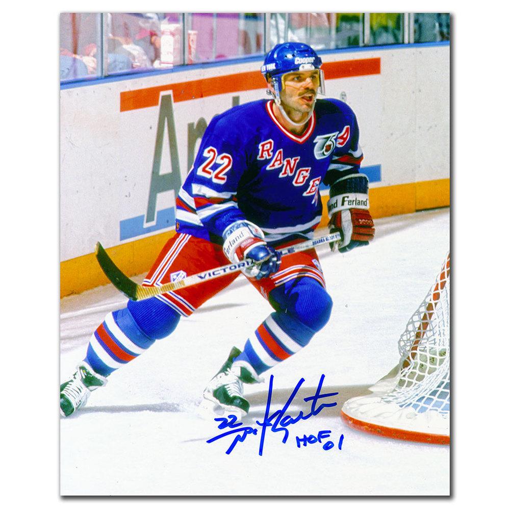 Mike Gartner New York Rangers HOF Autographed 8x10