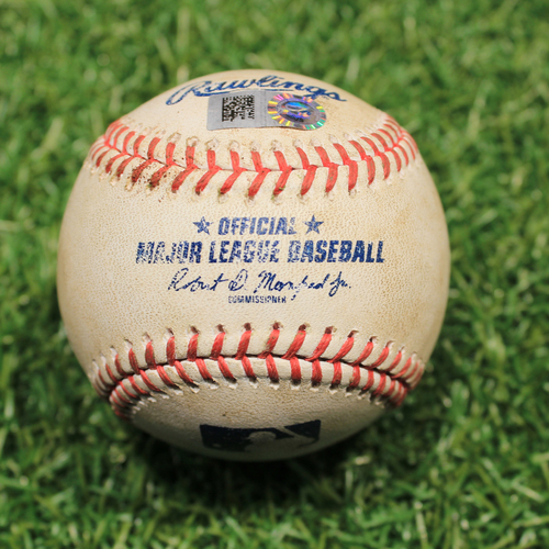 Photo of Game-Used Baseball: Niko Goodrum 244th Career Hit (9/26/20 DET @ KC)