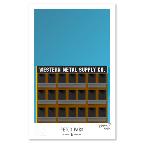Photo of Petco Park - Collector's Edition Minimalist Art Print by S. Preston Limited Edition /350  - San Diego Padres