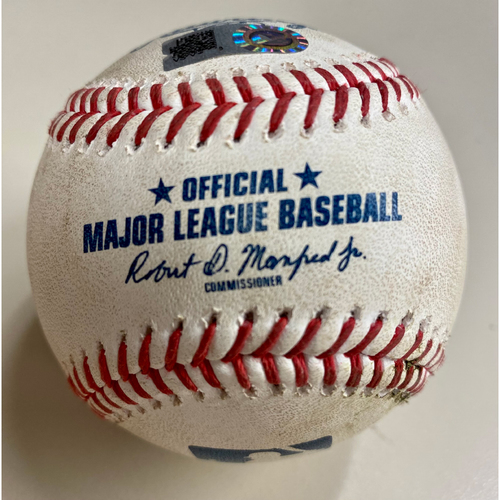 Photo of Game-Used Baseball:  Jared Walsh Los Angeles Angels RBI Double driving in Shohei Ohtani (MLB AUTHENTICATED)