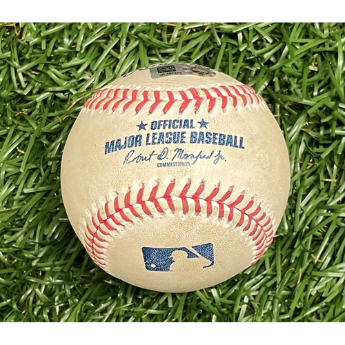 Photo of Game Used Baseball: Luis Patino strikes out Max Kepler - Luis Patino Rookie Season - Top 2 - September 5, 2021 v MIN