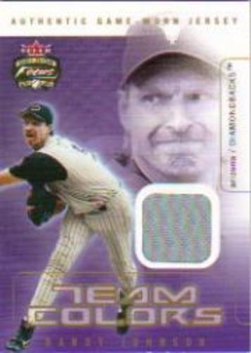 Photo of 2003 Fleer Focus JE Team Colors Game Jersey #RJ Randy Johnson