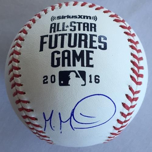 Photo of Manuel Margot Autographed 2016 Futures Baseball
