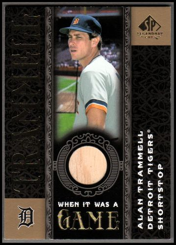 Photo of 2007 SP Legendary Cuts When it Was a Game Memorabilia #AT Alan Trammell