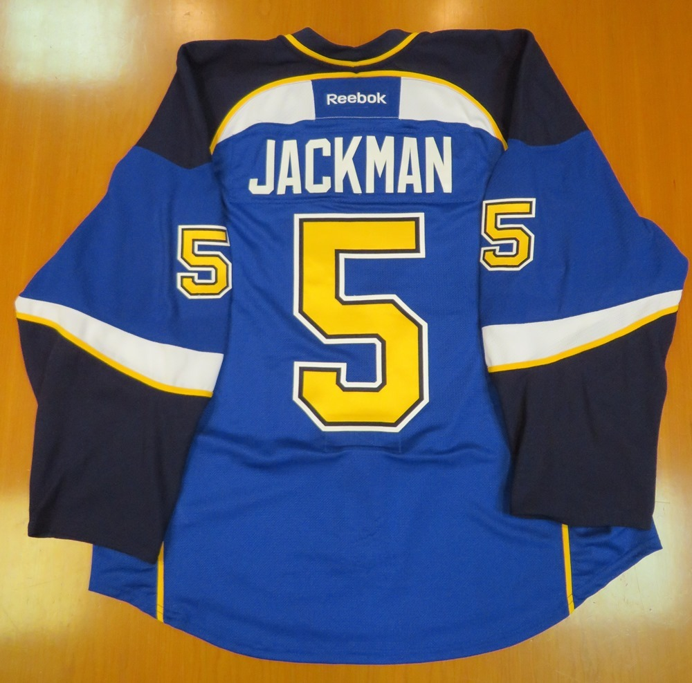 Barret Jackman autographed game-worn jersey