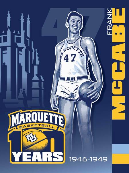 Photo of Frank McCabe Marquette 100th Anniversary Banner