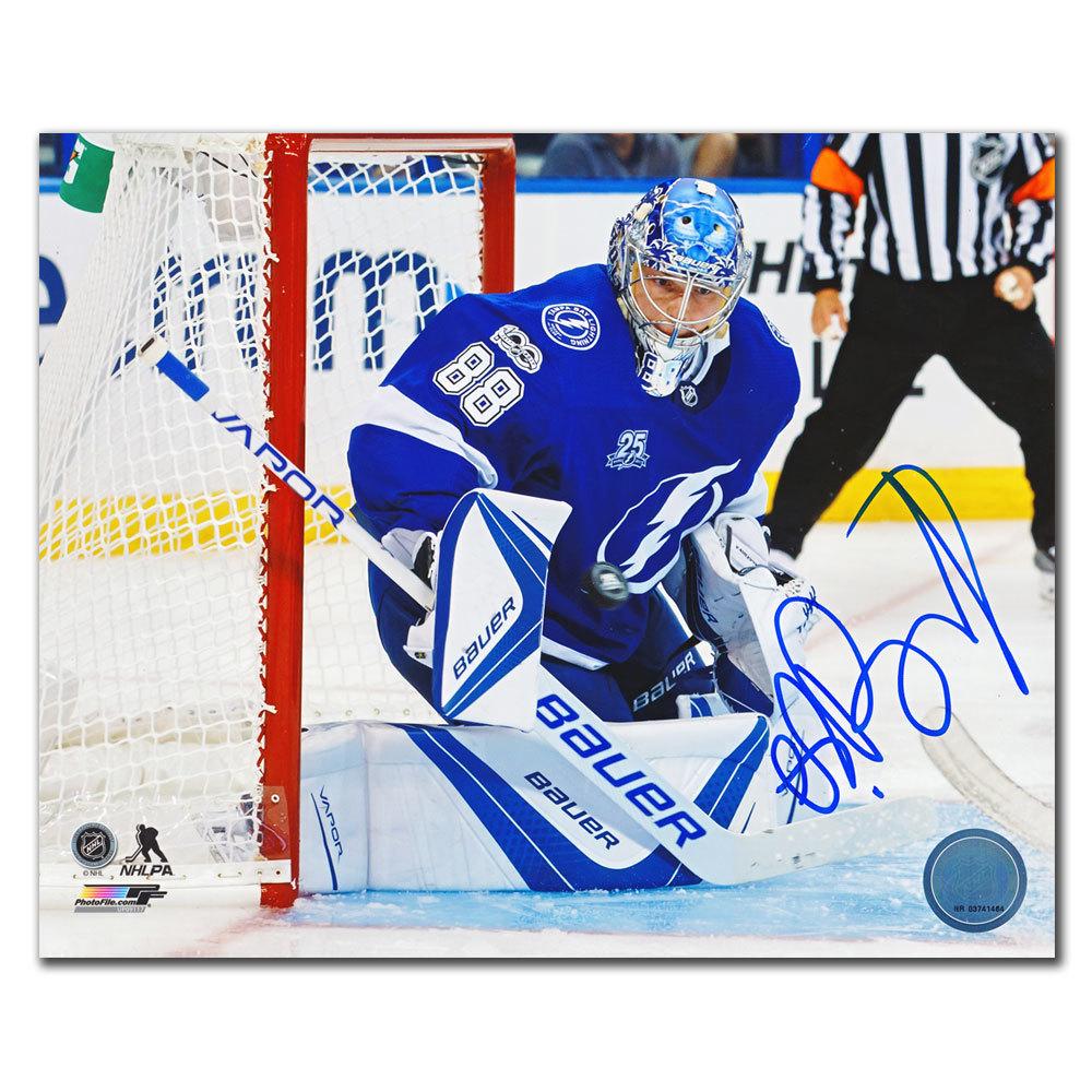 Andrei Vasilevskiy Tampa Bay Lightning ACTION Autographed 8x10