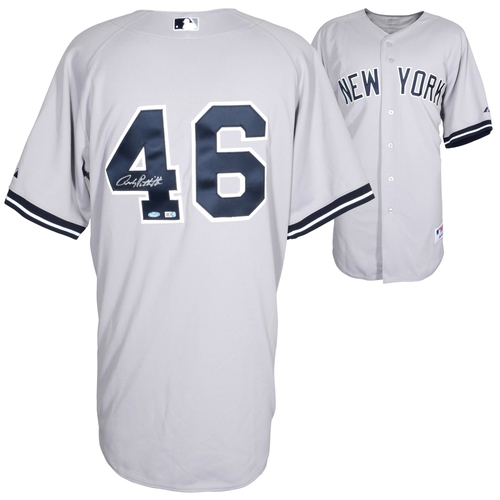 Photo of Andy Pettitte New York Yankees  Autographed Authentic Gray Jersey