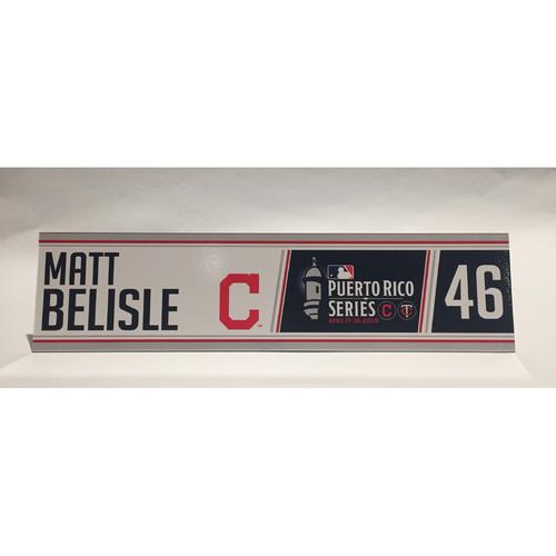 Photo of 2018 Puerto Rico Series - Mark Belisle Game-Used Locker Name Plate
