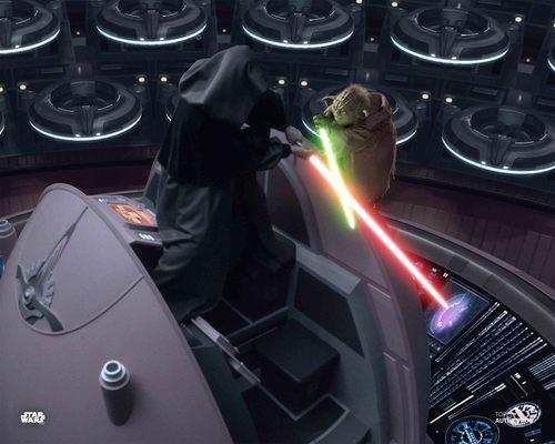 Emperor Palpatine and Yoda