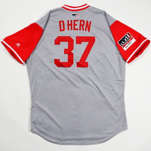 "Photo of David ""D Hern"" Hernandez Cincinnati Reds Game-Used 2018 Players' Weekend Jersey"