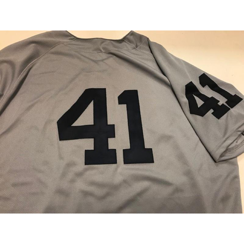 Photo of Game-Used 1968 World Series 50th Anniversary Jersey: Victor Martinez