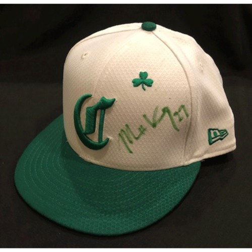 Photo of Matt Kemp -- Autographed & Game-Used Cap -- 2019 St. Patrick's Day