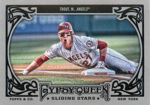 Photo of 2013 Topps Gypsy Queen Sliding Stars #MT Mike Trout