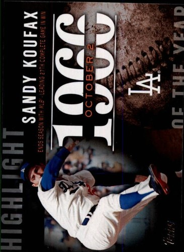 Photo of 2015 Topps Highlight of the Year #H71 Sandy Koufax UPD