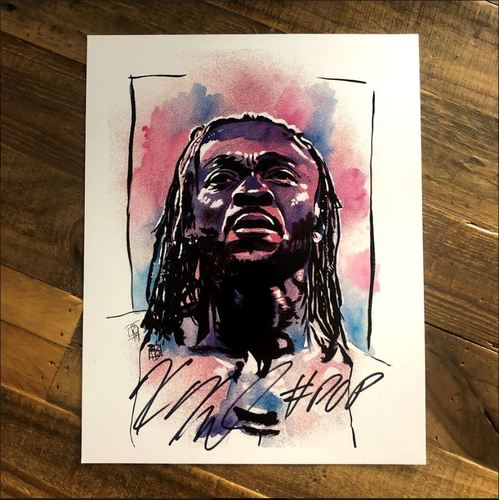 Kofi Kingston SIGNED 11 x 14 Rob Schamberger Print