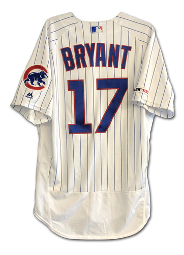 Photo of Kris Bryant Game-Used Jersey -- Bryant 2 Hits, 1 Run -- Athletics vs. Cubs -- 8/7/19