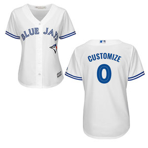 Toronto Blue Jays Women's Customizable Replica Home Jersey by Majestic
