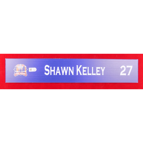 Final Season Game-Used Locker Tag - Shawn Kelley - 9/13/19 vs OAK
