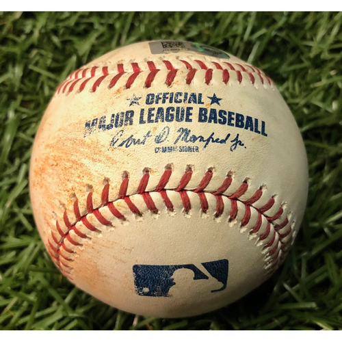 Photo of Game Used Baseball: J.D. Martinez single off Diego Castillo - July 23, 2019 v BOS