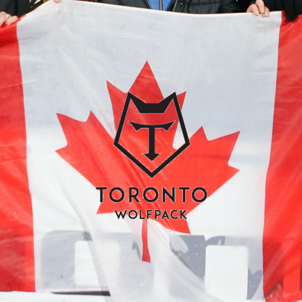 Canadian Flag Signed by the Squad