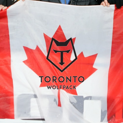 Photo of Canadian Flag Signed by the Squad