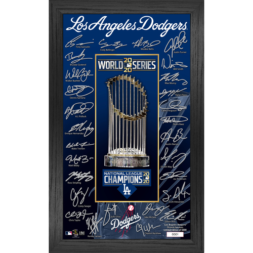 Photo of Serial #1! Los Angeles Dodgers 2020 World Series Signature Frame