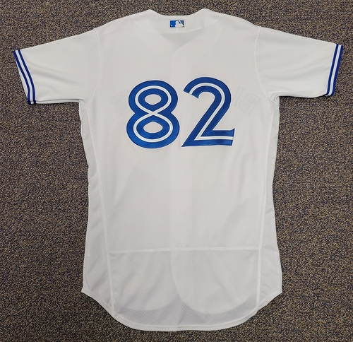 Photo of Authenticated Team Issued 2020 Summer Training Camp Jersey: #82 Forrest Wall. Size 42.