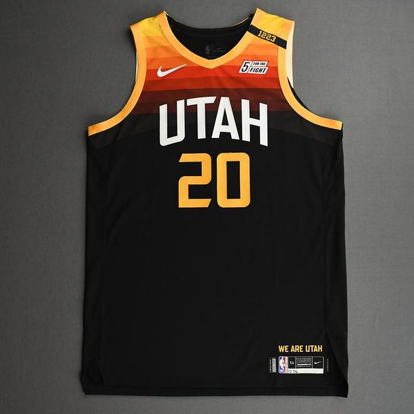 Image of Udoka Azubuike - Utah Jazz - Game-Worn City Edition Jersey - Dressed, Did Not Play (DNP) - 2020-21 NBA Season
