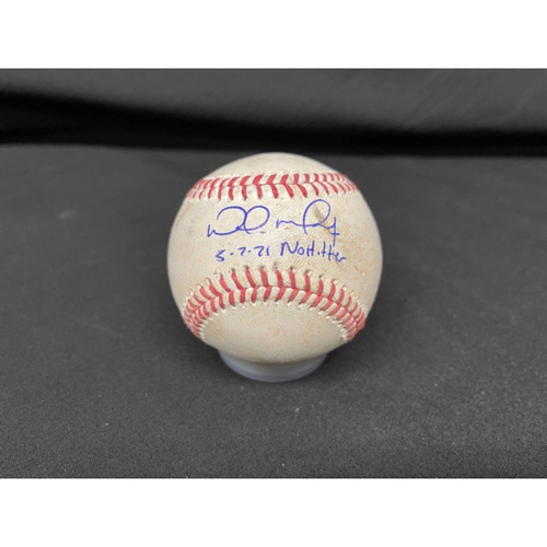 Photo of Wade Miley No-Hitter - *Autographed Game-Used Baseball* - Bot 8 - Wade Miley to Amed Rosario (Foul) - Inscribed as 5-7-21 No Hitter