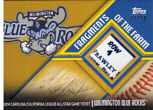 Photo of 2015 Topps Pro Debut Fragments of the Farm Gold #FFWBR Wilmington Blue Rocks/Ticket