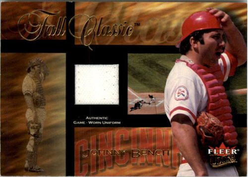Photo of 2002 Ultra Fall Classic Memorabilia #3 Johnny Bench Jsy