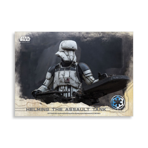 Helming the Assault Tank 2016 Star Wars Rogue One Series One Base Poster - # to 99