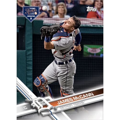 Photo of Autographs for a Cause: James McCann Autographed Limited Edition 2017 Topps Detroit Tigers Baseball Card