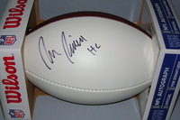 PANTHERS - HEAD COACH RON RIVERA SIGNED PANEL BALL