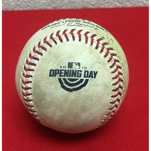 Photo of Game-Used Baseball: Anthony Rendon Double (1)