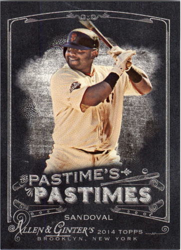 Photo of 2014 Topps Allen and Ginter The Pastime's Pastime #PPPS Pablo Sandoval