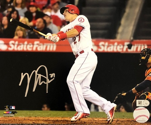 Photo of Mike Trout Autographed 8x10 - Batting