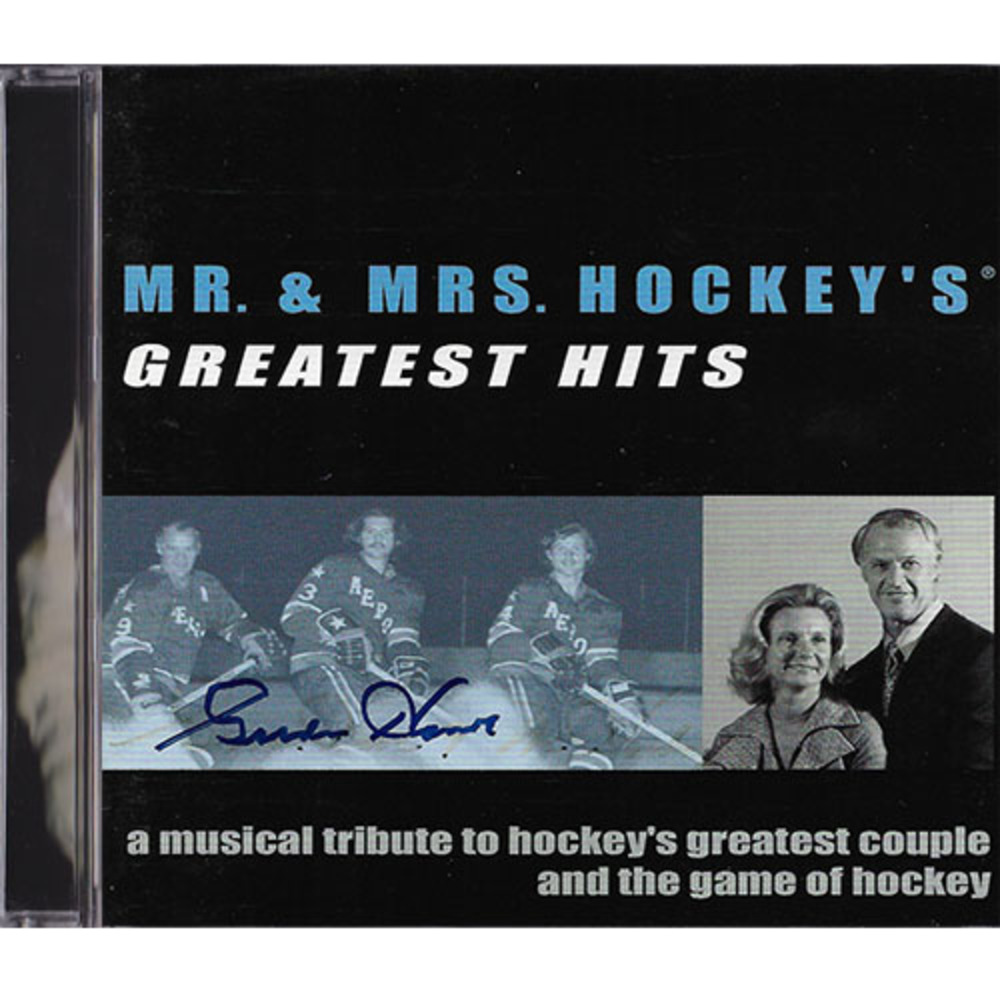 Gordie Howe Autographed Mr. & Mrs. Hockey Greatest Hits CD