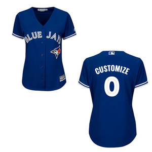 Toronto Blue Jays Woman's Cool Base Customizable Replica Alternate Jersey by Majestic