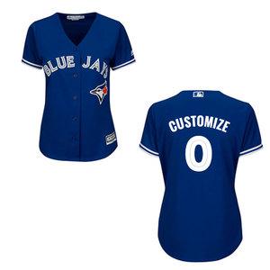 Toronto Blue Jays Women's Customizable Replica Alternate Jersey by Majestic