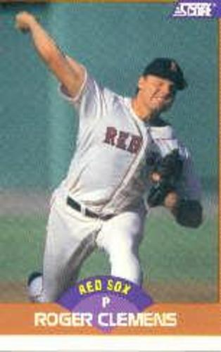 Photo of 1989 Score #350A Roger Clemens ERR/778 career wins